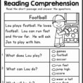 2Nd Grade Reading Comprehension Worksheet 1 » Printable