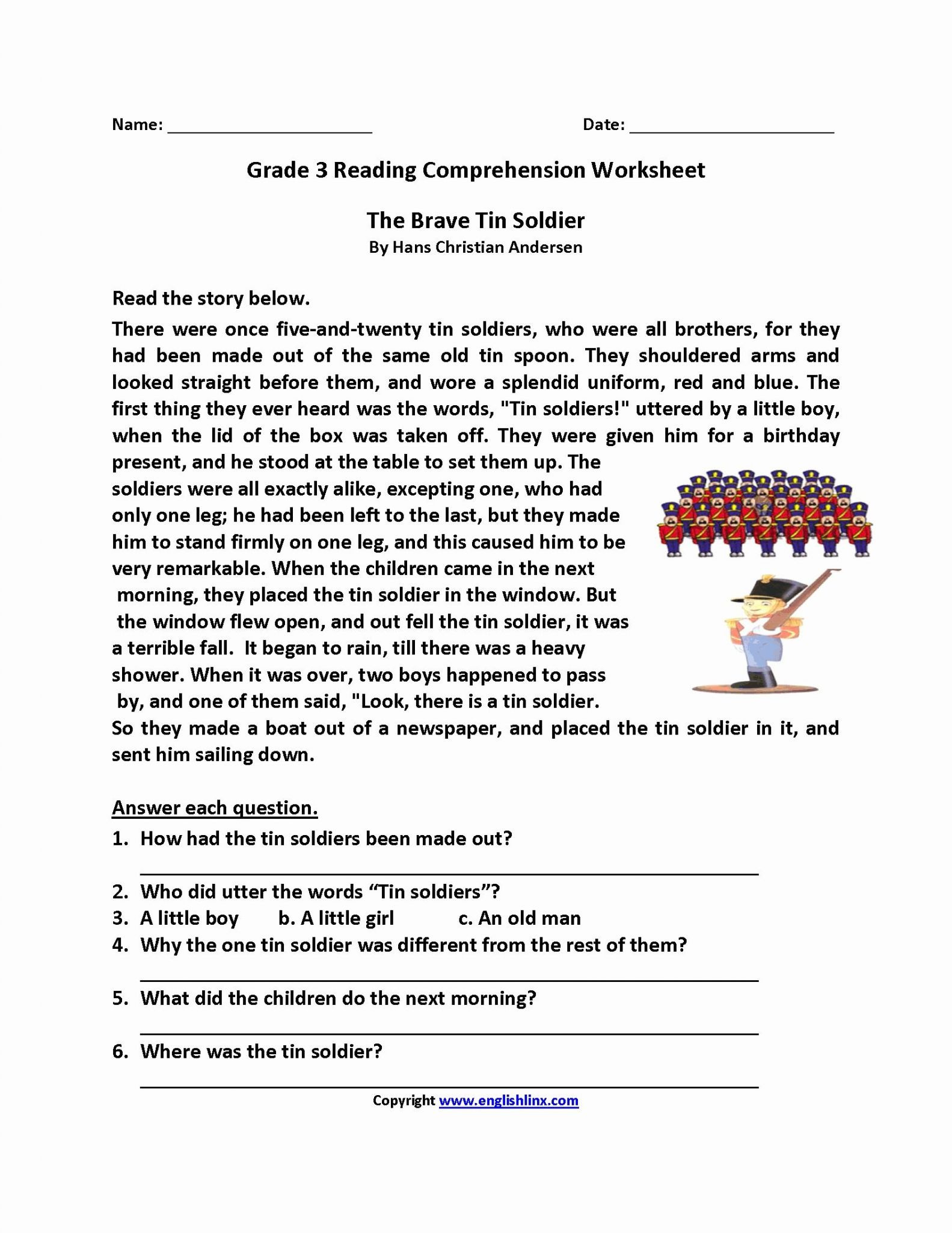 2Nd Grade Reading Comprehension Worksheets Pdf — db excel.com