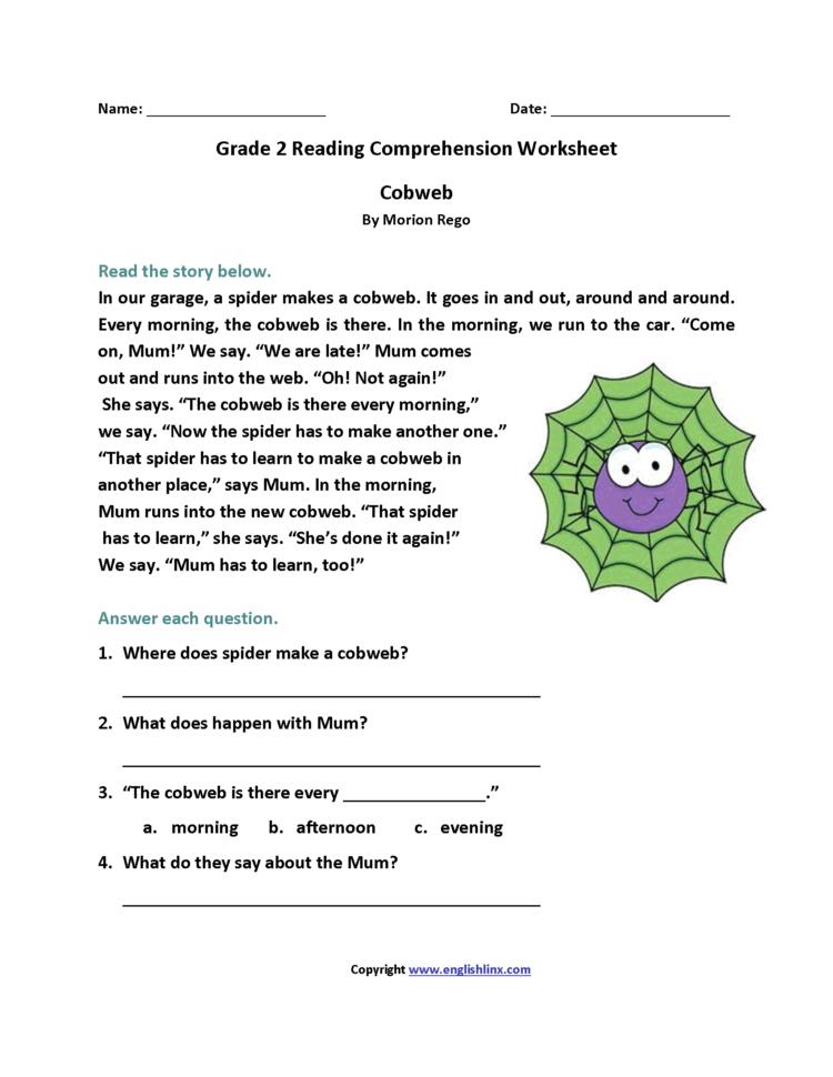2Nd Grade Reading Comprehension Worksheets Pdf For You ...