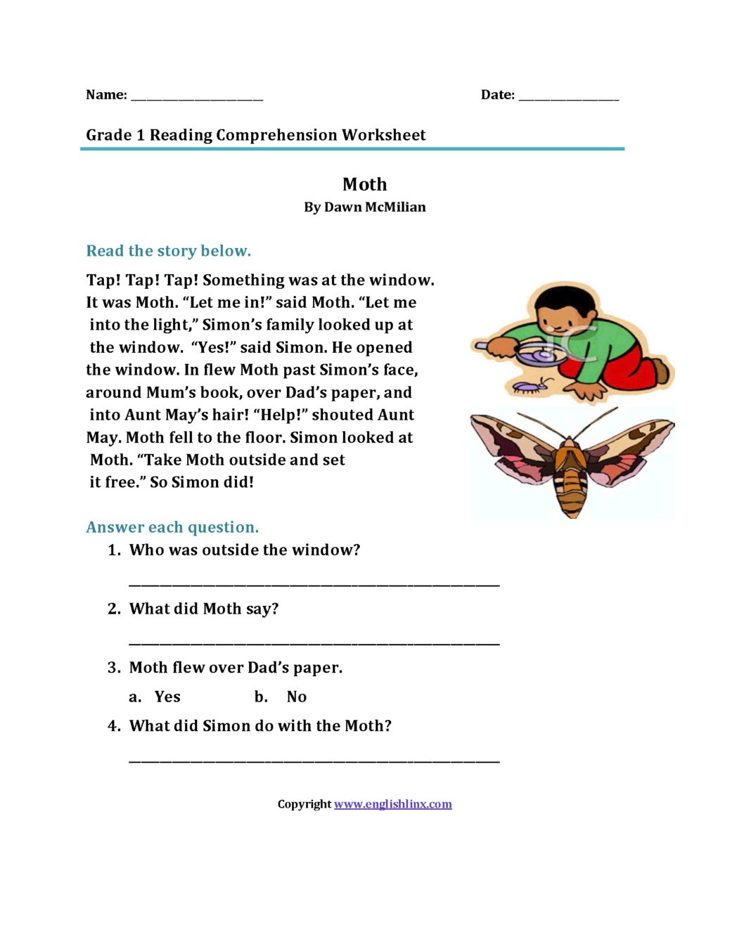 2Nd Grade Reading Comprehension Worksheets Pdf To You Math ...