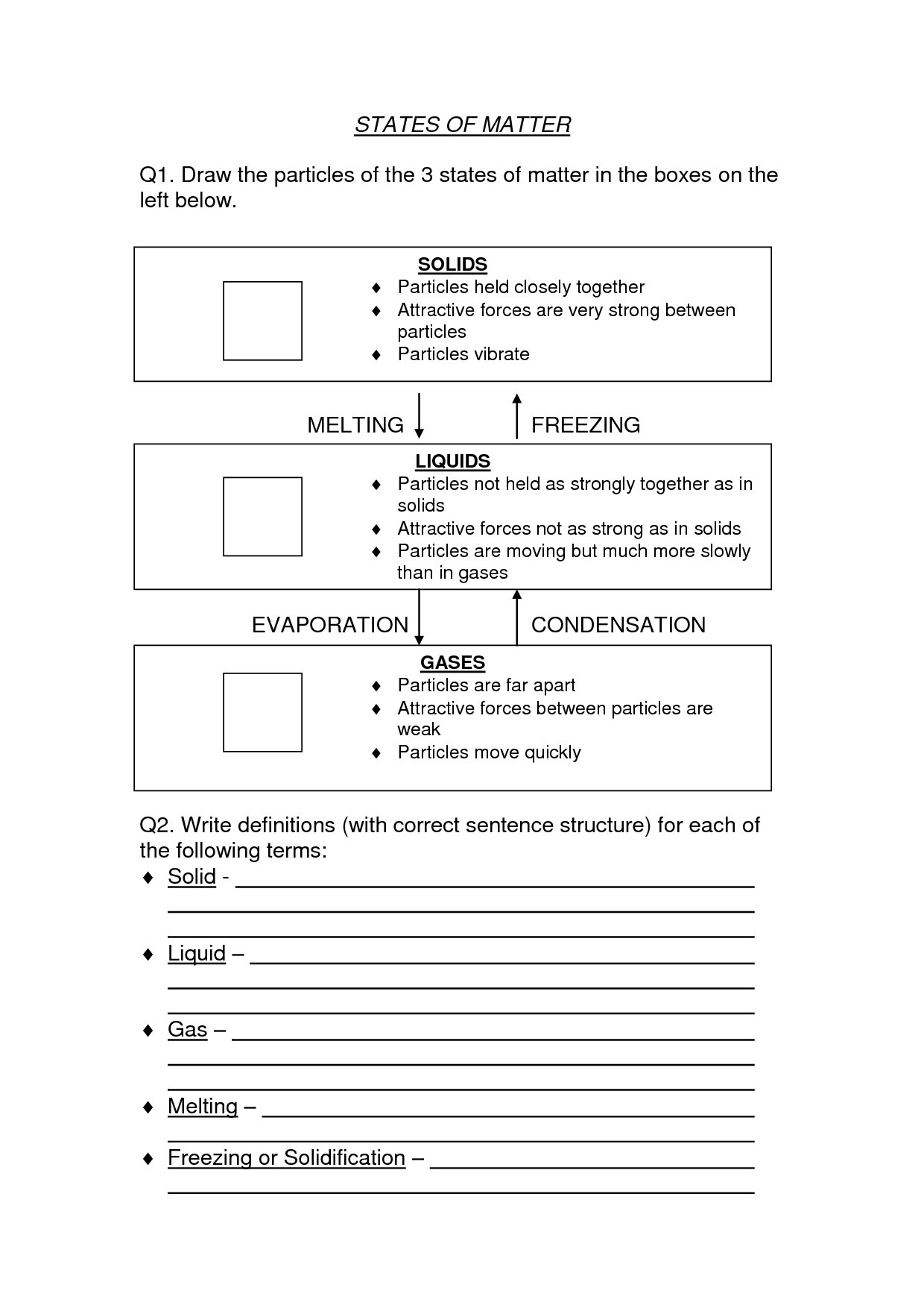 2Nd Grade Science Worksheets To Free Download  Math