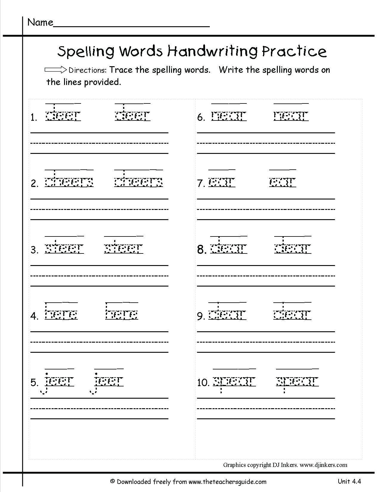 3Rd Grade Handwriting Worksheets Pdf - db-excel.com