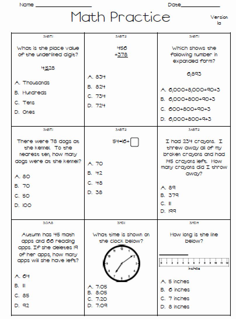 3Rd Grade Math Staar Test Practice Worksheets | db-excel.com