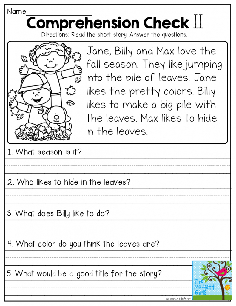 4Th Grade Reading Comprehension Worksheets Pdf | db-excel.com