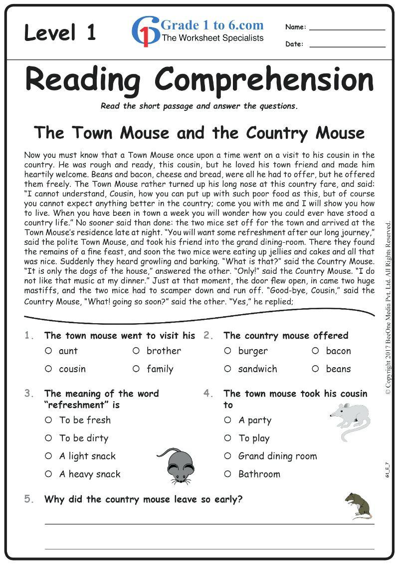 4Th Grade Reading Comprehension Worksheets Pdf For Print ...