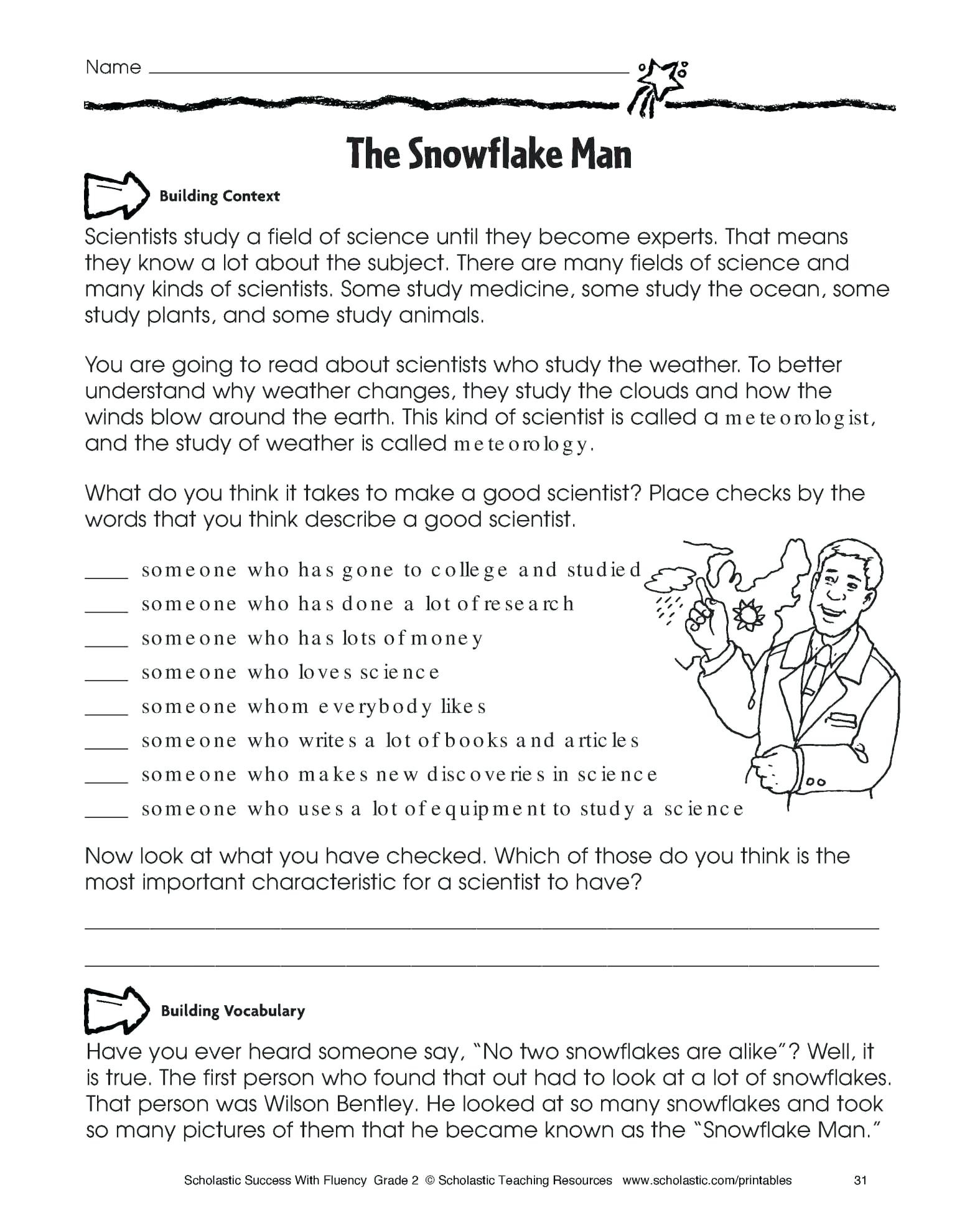 Reading Comprehension Worksheets 4Th Grade Common Core ...