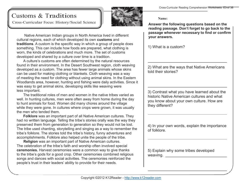 Reading Comprehension Worksheets 5th Grade Db Excel Com
