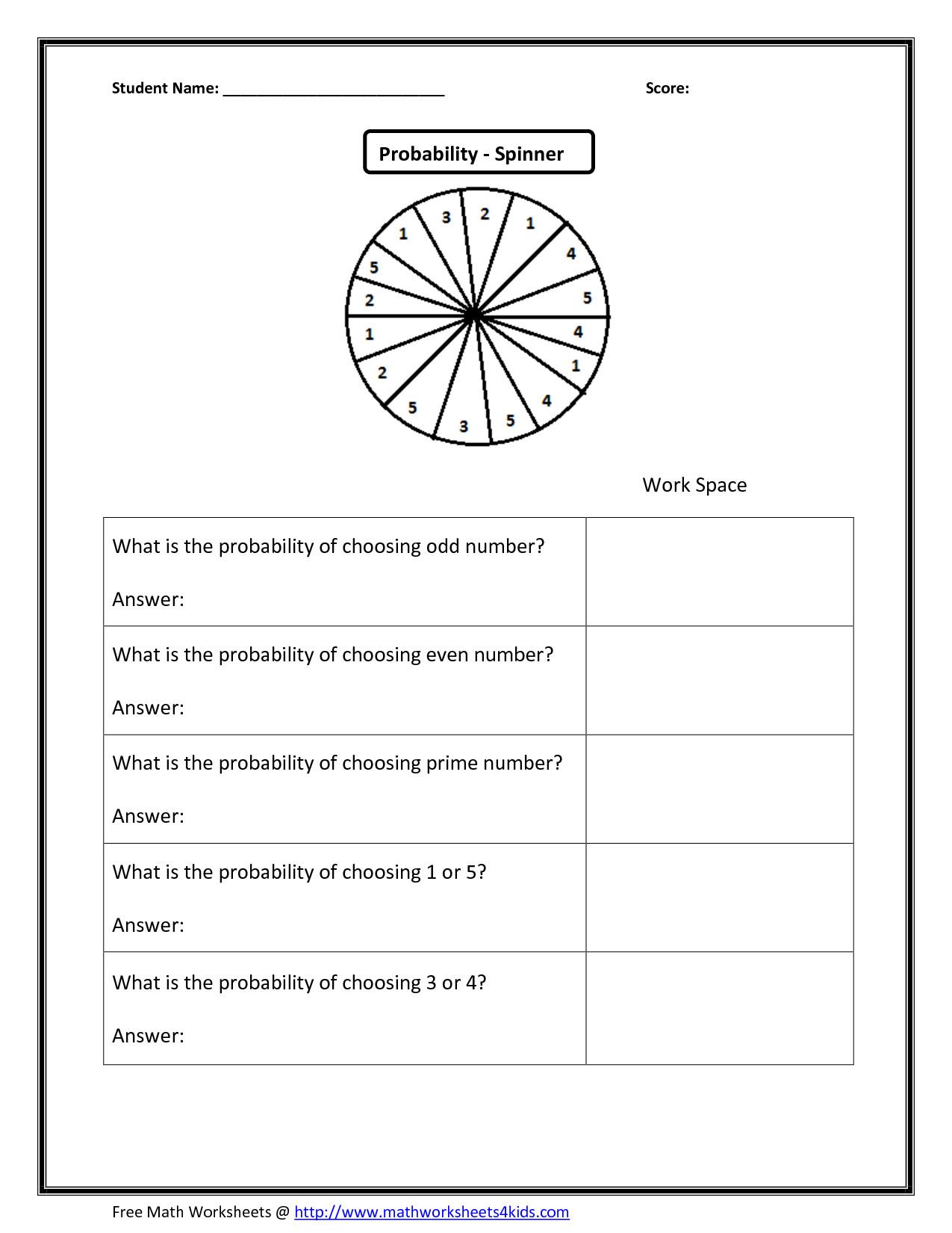 8Th Grade Math Probability Worksheets Printable Worksheet ...