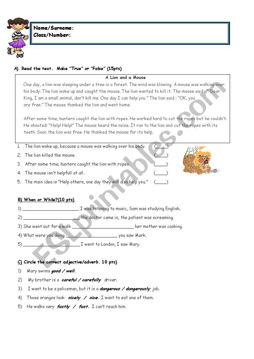 8Th Grade Reading Worksheets | db-excel.com