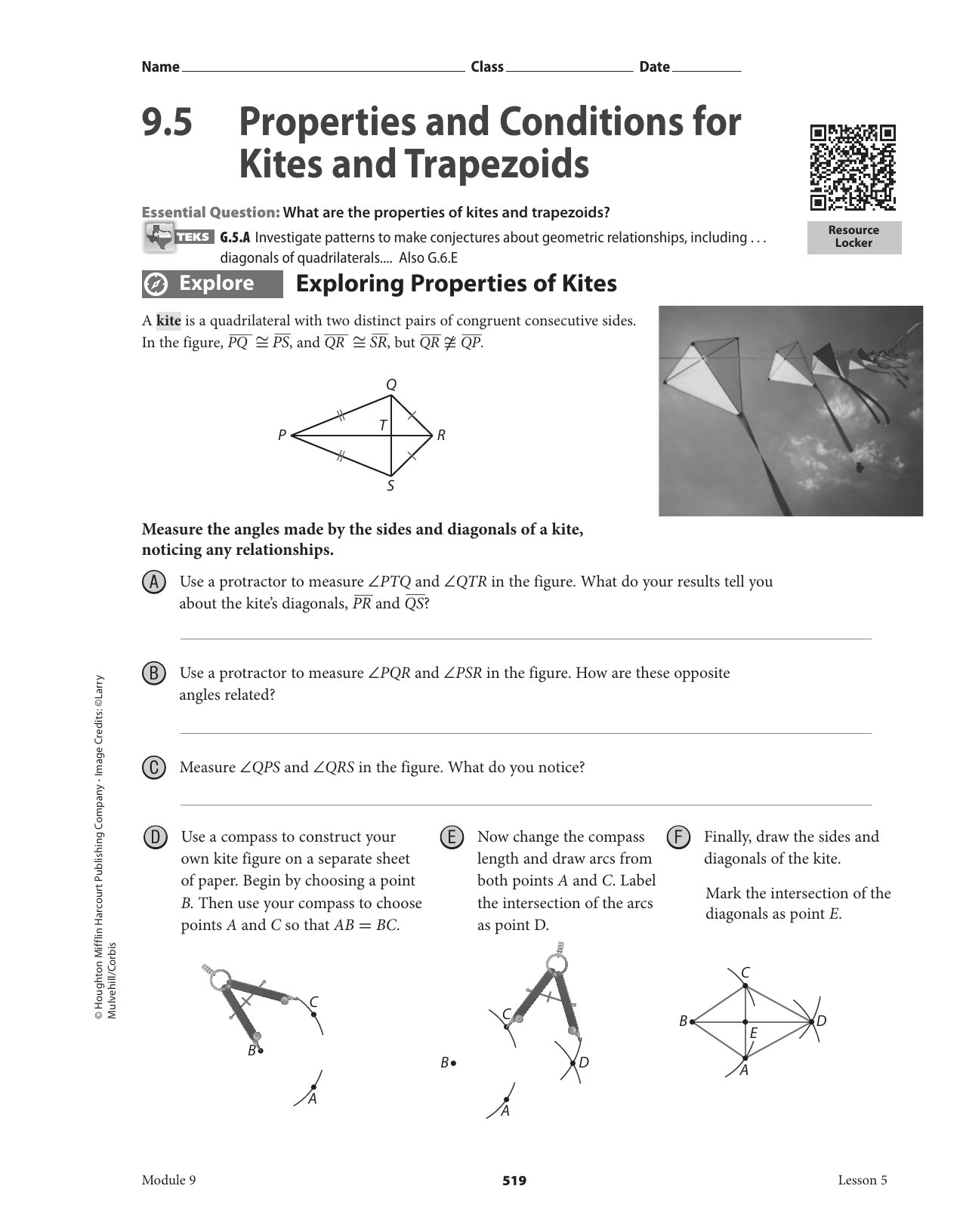 9  5 Properties And Conditions For Kites And Trapezoids