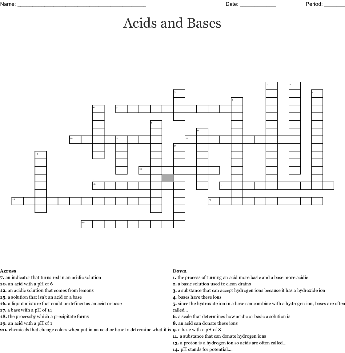 Acids And Bases Worksheet Middle School — db excel.com