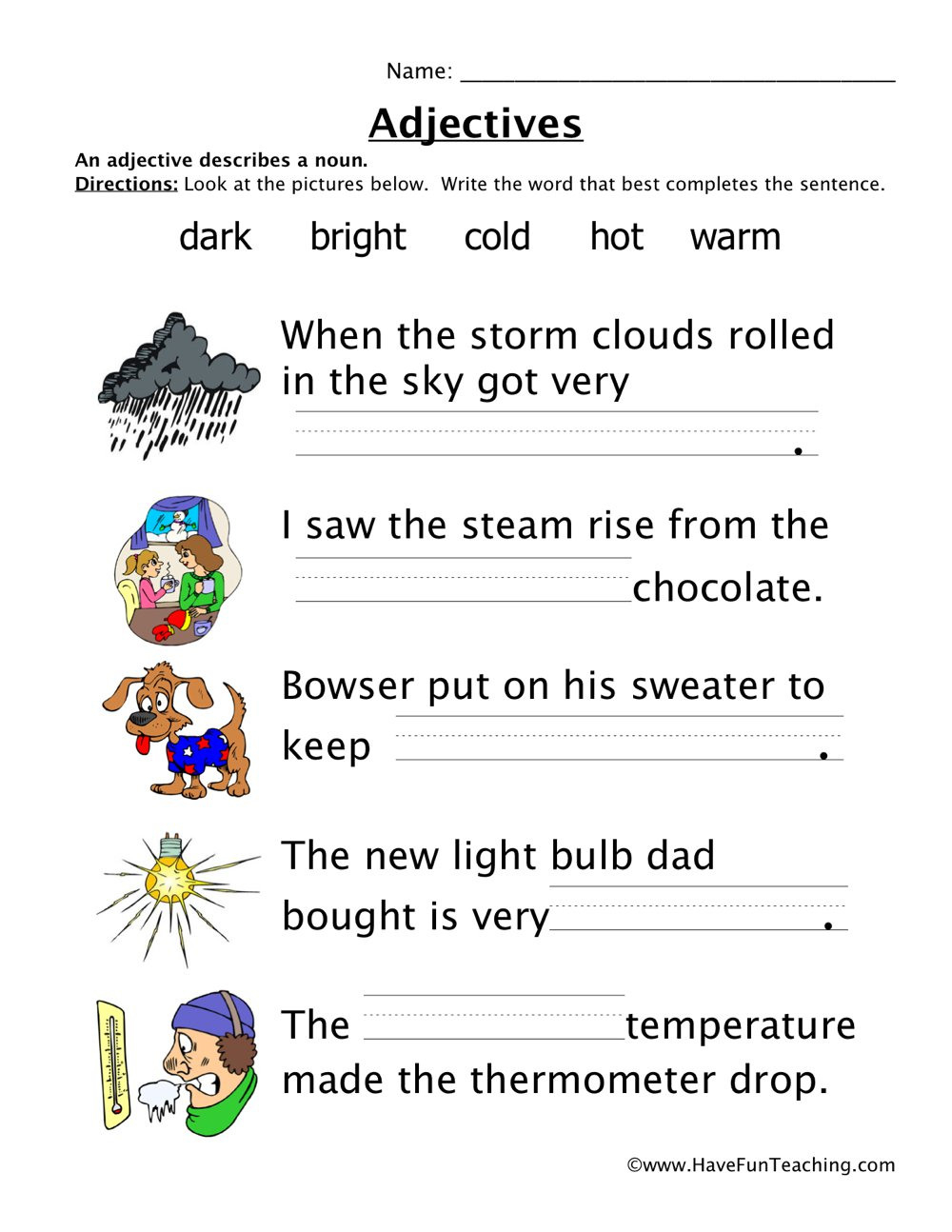 Adjectives Resources  Have Fun Teaching