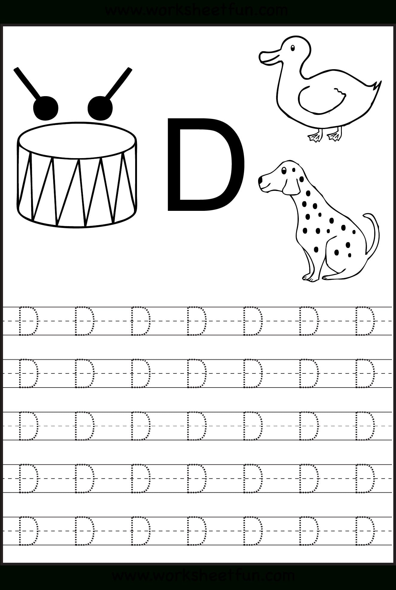 Alphabet Worksheets Preschool Tracing Printable Coloring ...