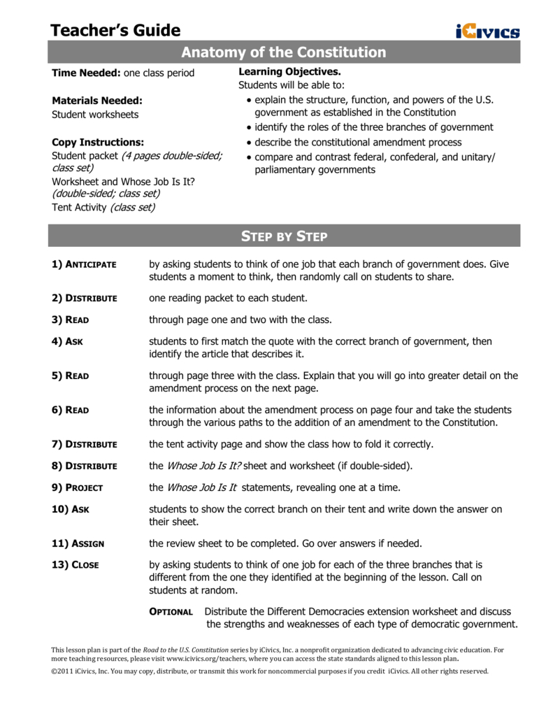 The Federal In Federalism Worksheet Answer Key Icivics ...
