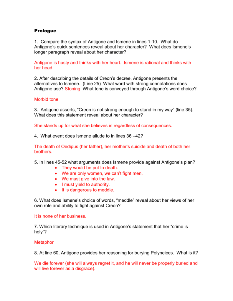 Antigone Worksheet Answers Page 3 Coloring Pages ...