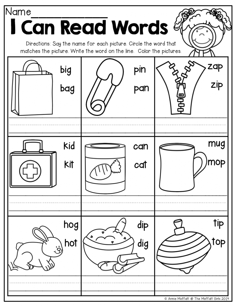 Free Word Family Worksheets For Kindergarten