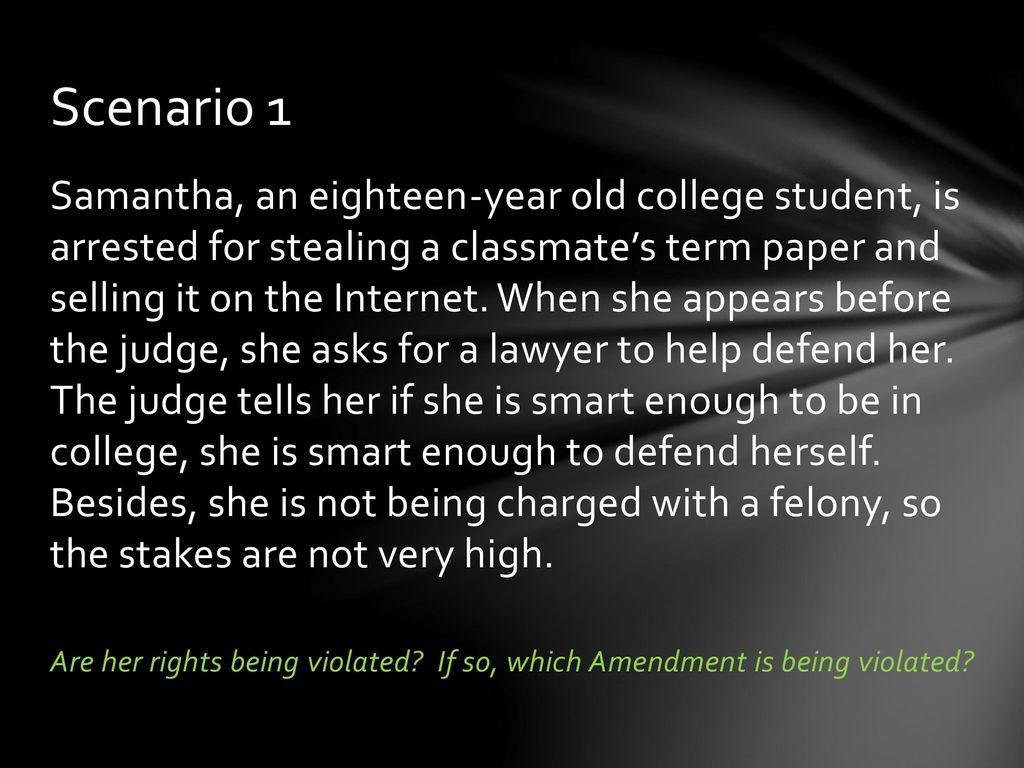 Bill Of Rights Scenarios  Ppt Download