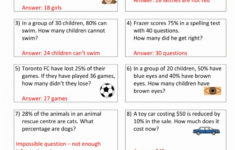 Breathtaking Fraction Word Problems Grade 6 Printable