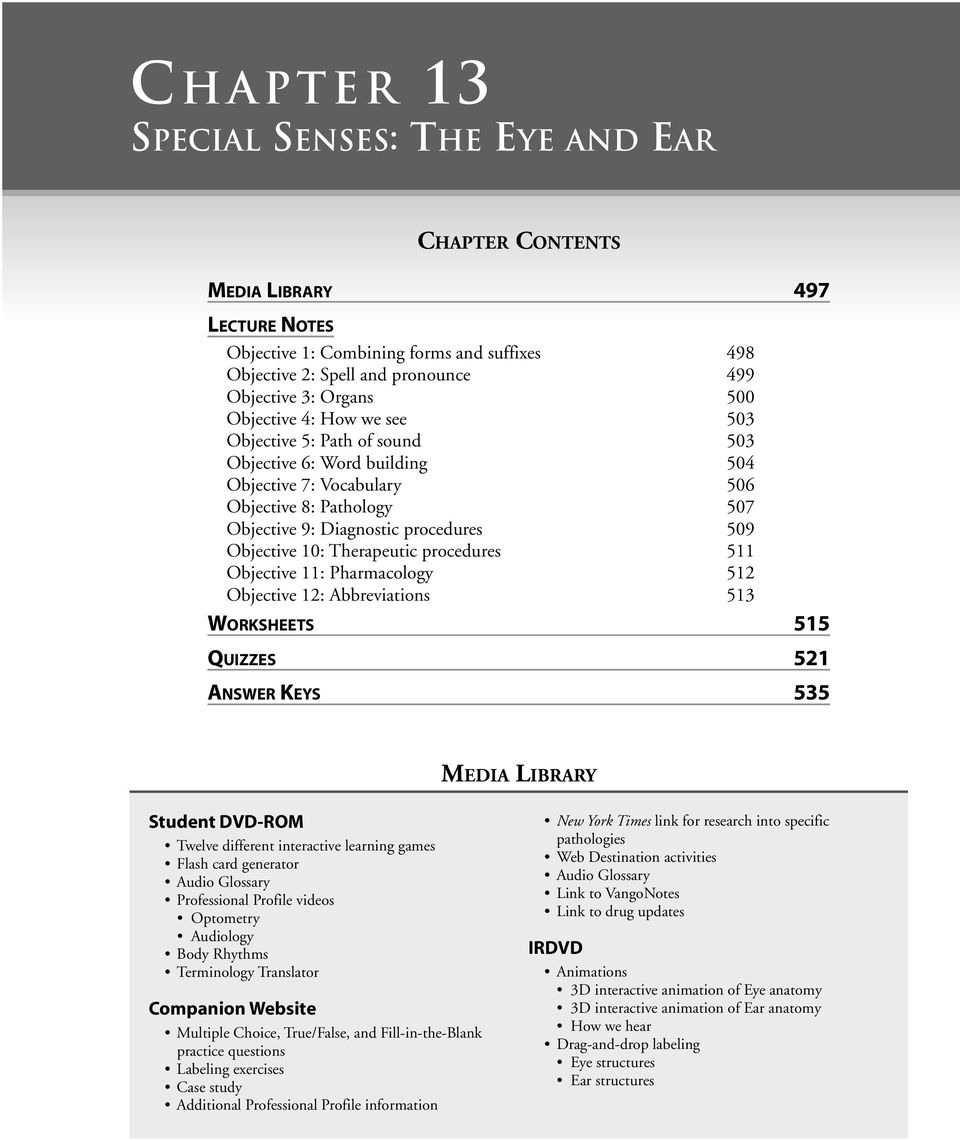 The Eye And Vision Anatomy Worksheet Answers — db-excel.com