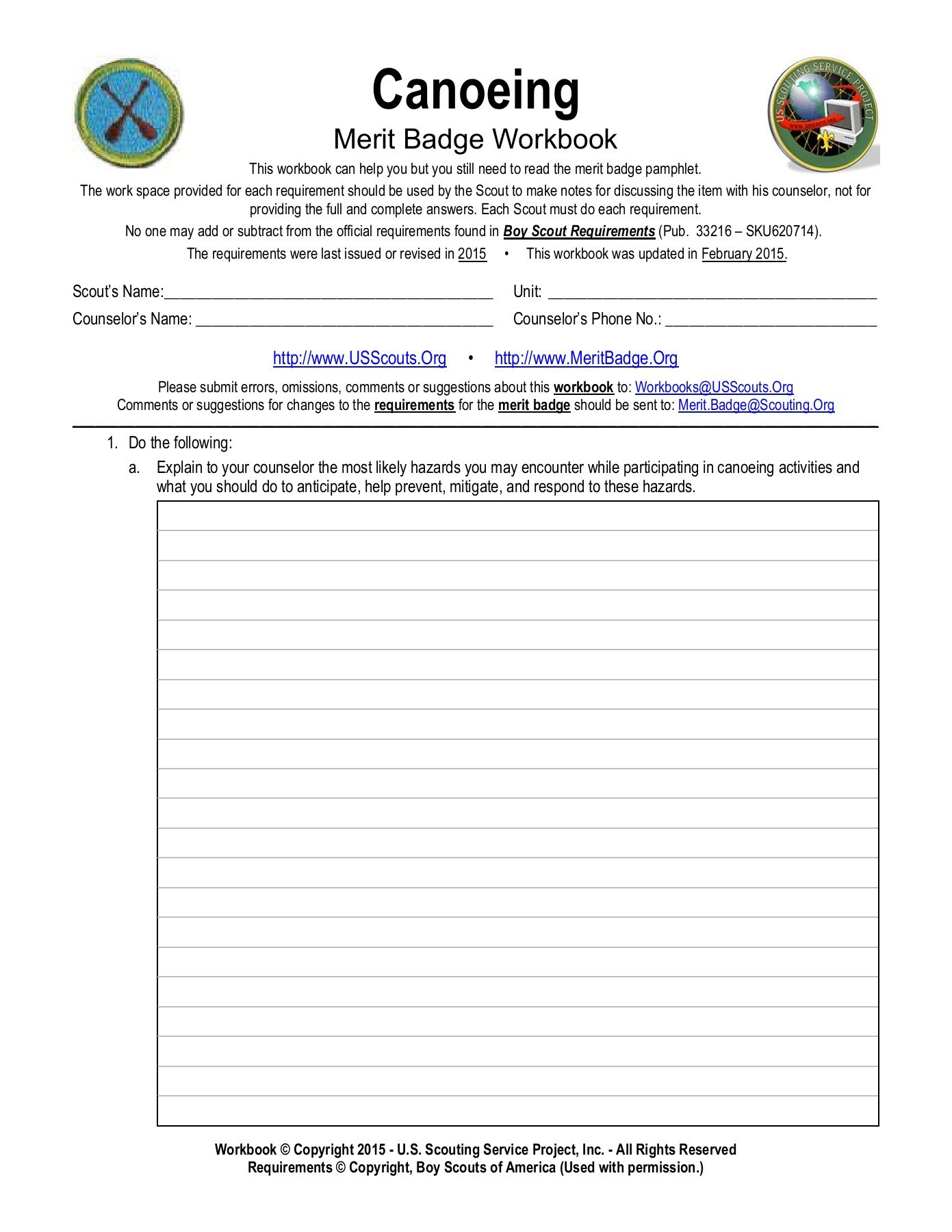 Merit Badge Worksheets — db excel.com