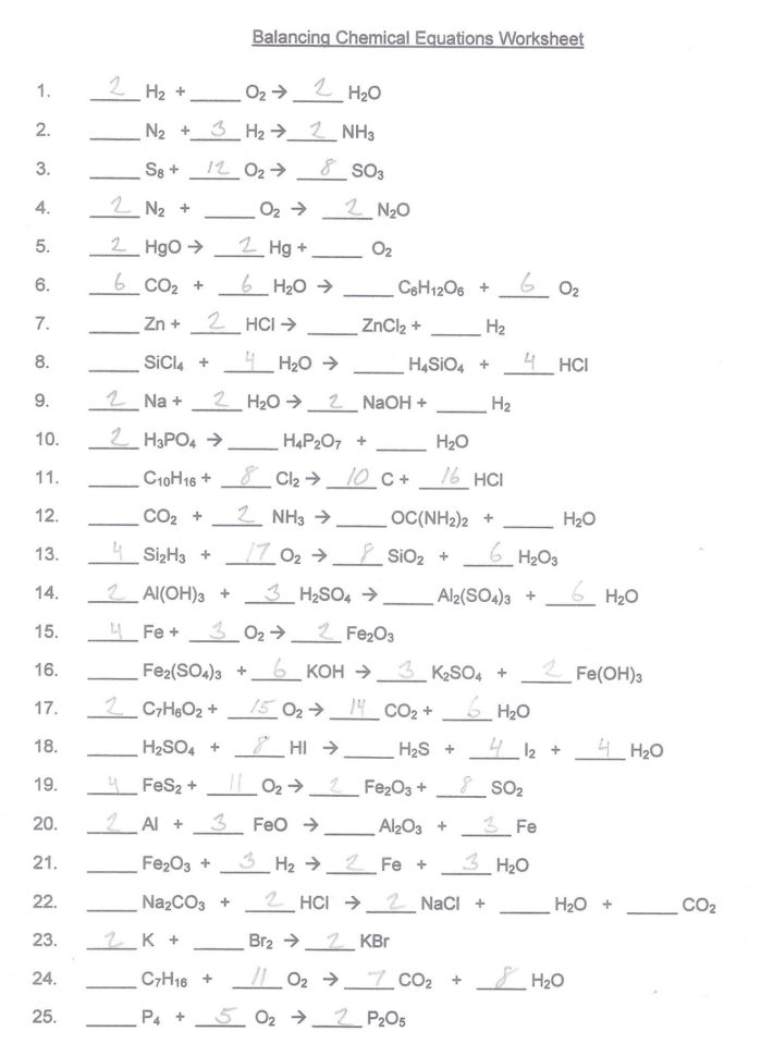 Chemistry Unit 7 Worksheet 4 Answers — db excel.com
