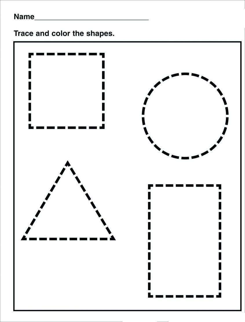 Coloring Shapes Worksheets Kindergarten Pdf Shape Identify