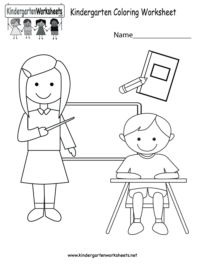 Coloring Worksheet  Free Kindergarten Learning Worksheet For Kids
