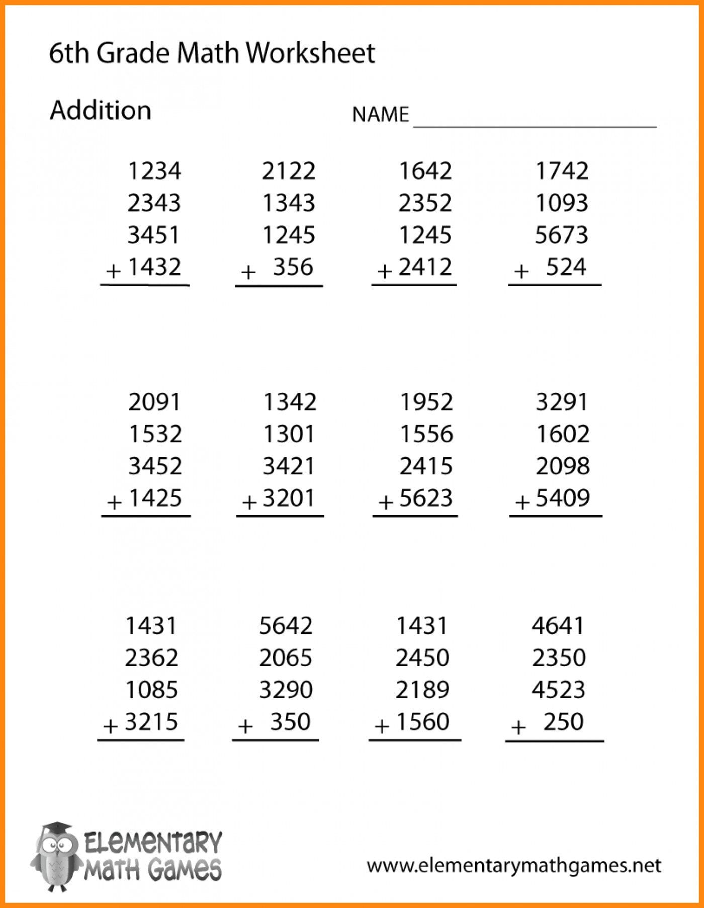 Common Core 6Th Grade Math Worksheets Kindergarten Maths ...