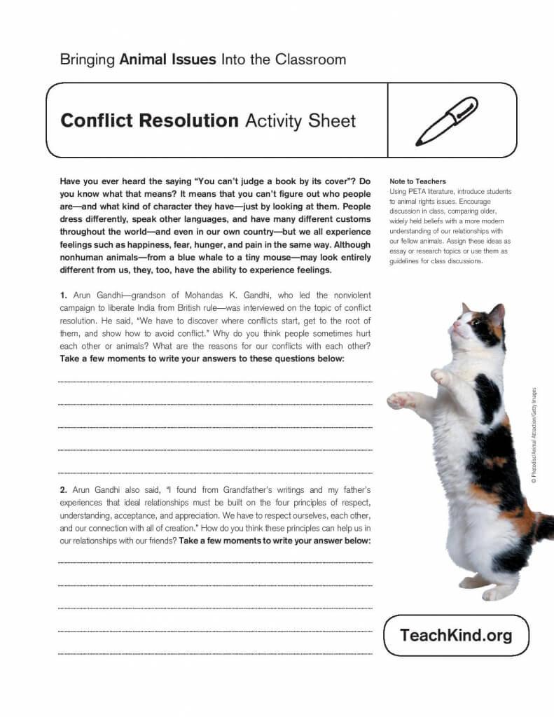 Conflict Resolution Activity Sheet  Peta