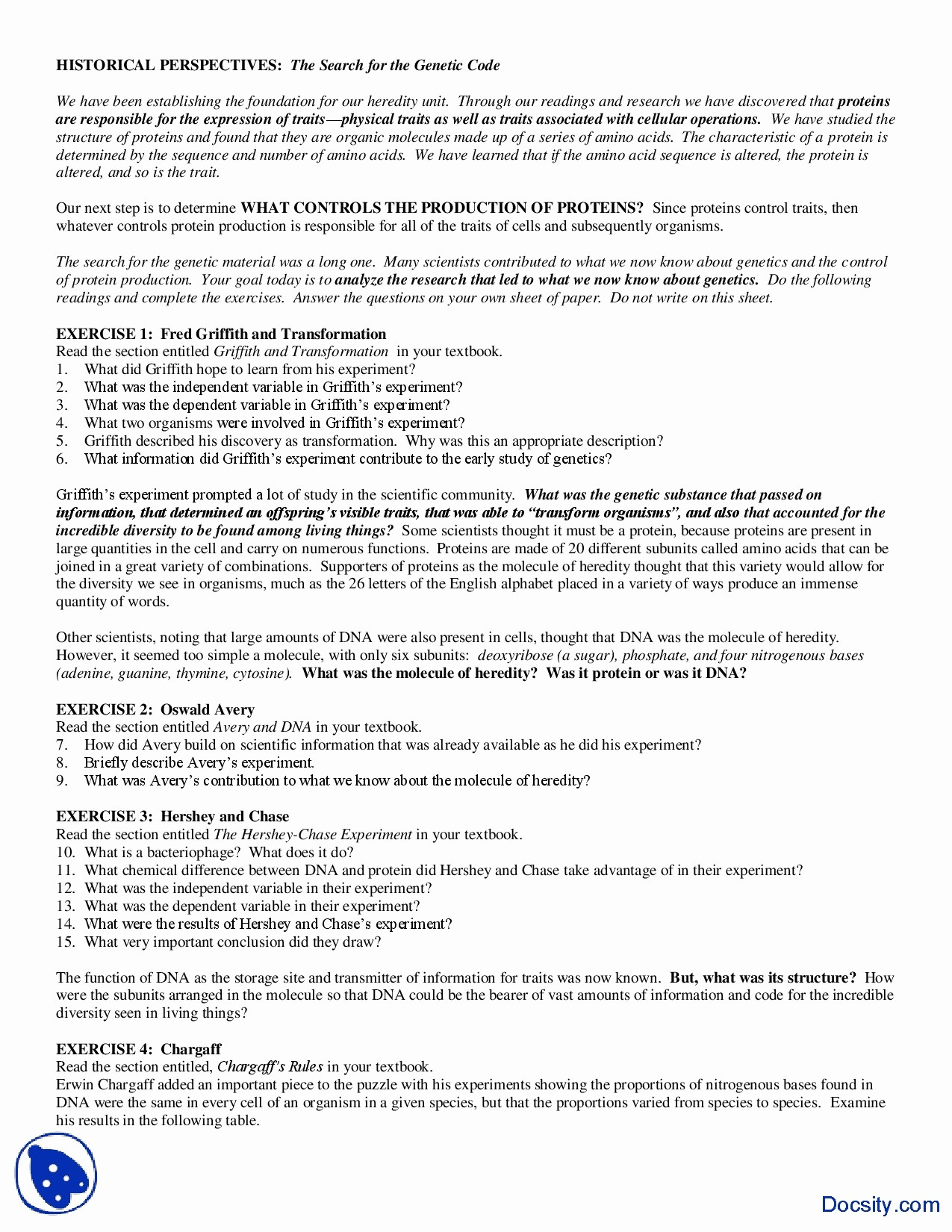 Dna The Molecule Of Heredity Worksheet Answers — db excel.com