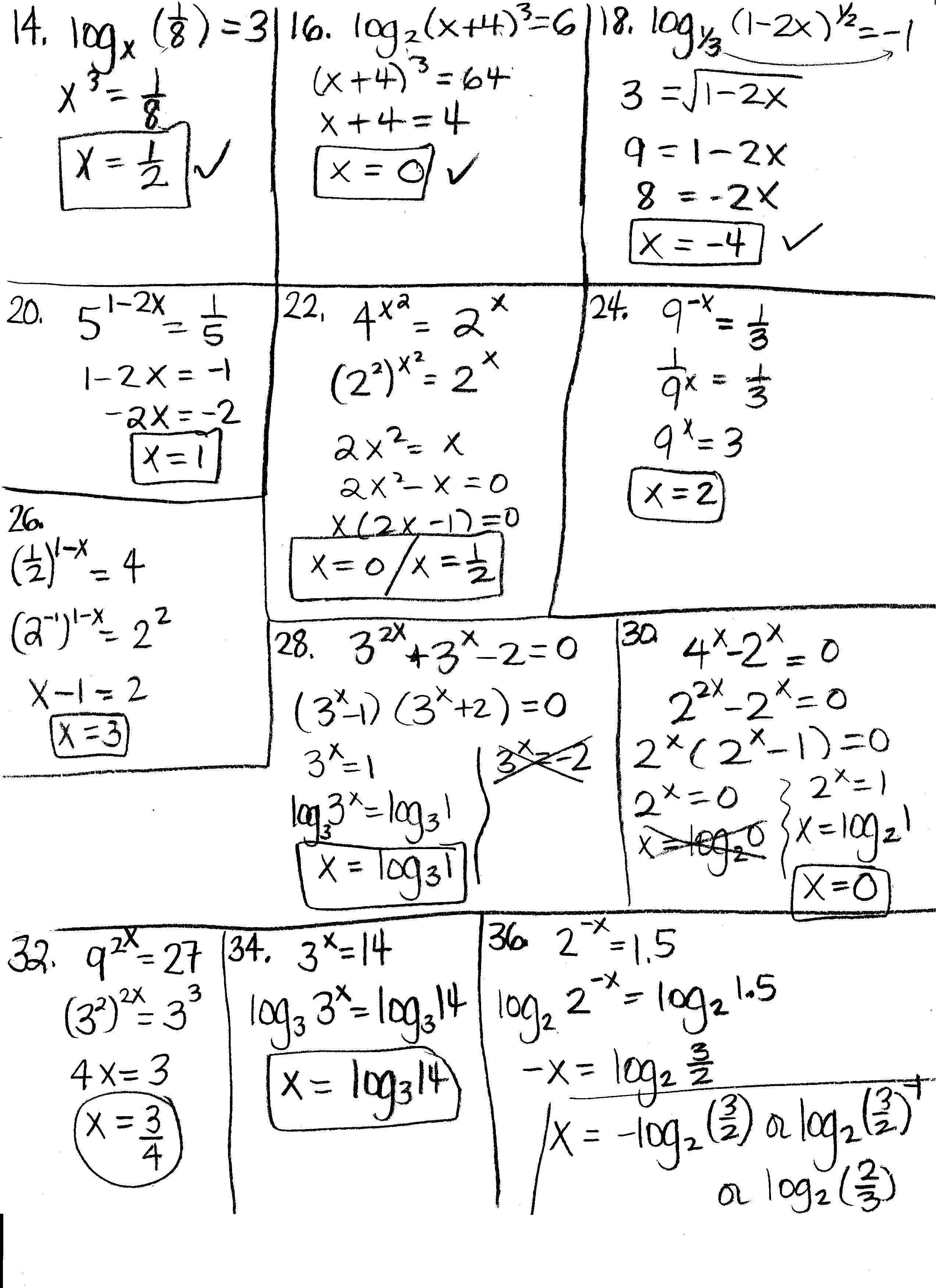 Eeaadaecfcddca Exponents And Logarithms Worksheet Stunning