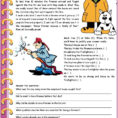 English Esl Reading Comprehension Worksheets  Most
