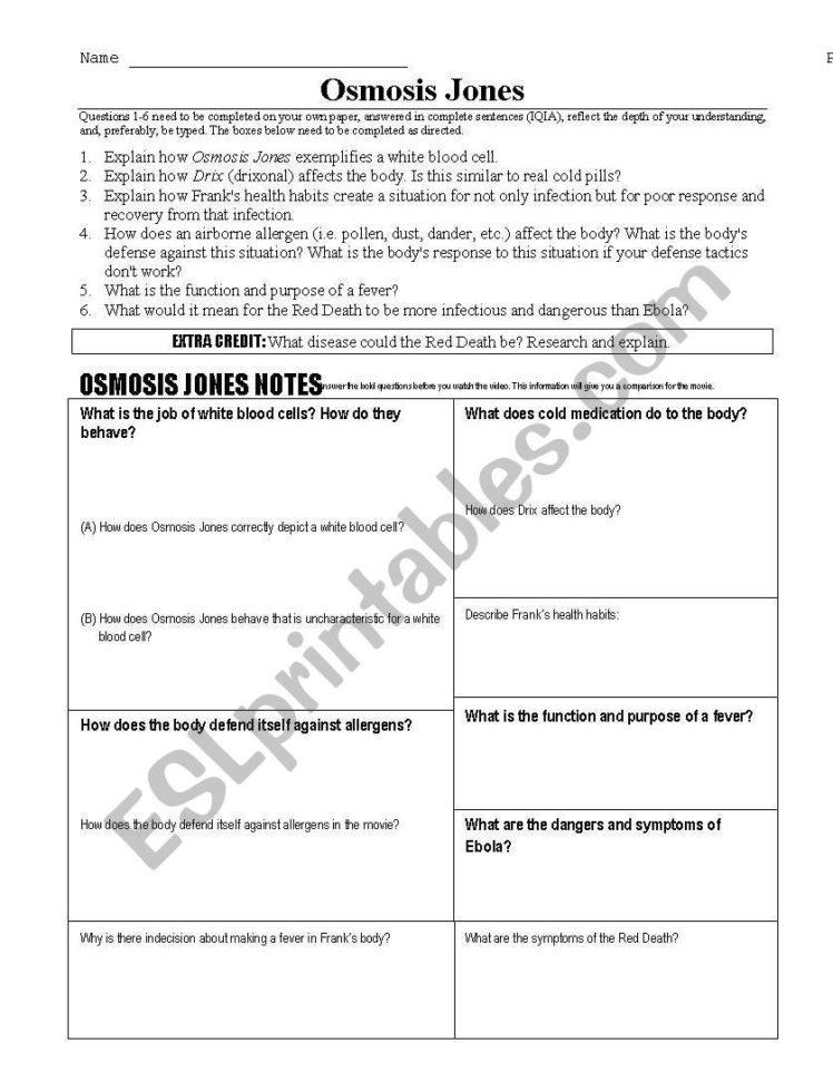 English Worksheets Osmosis Jones — db-excel.com