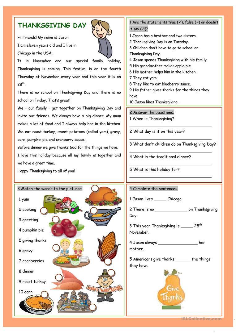 Esl Thanksgiving Worksheets Adults Best Of 230 Best