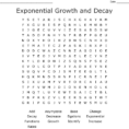 Exponential Growth And Decay Word Search  Word