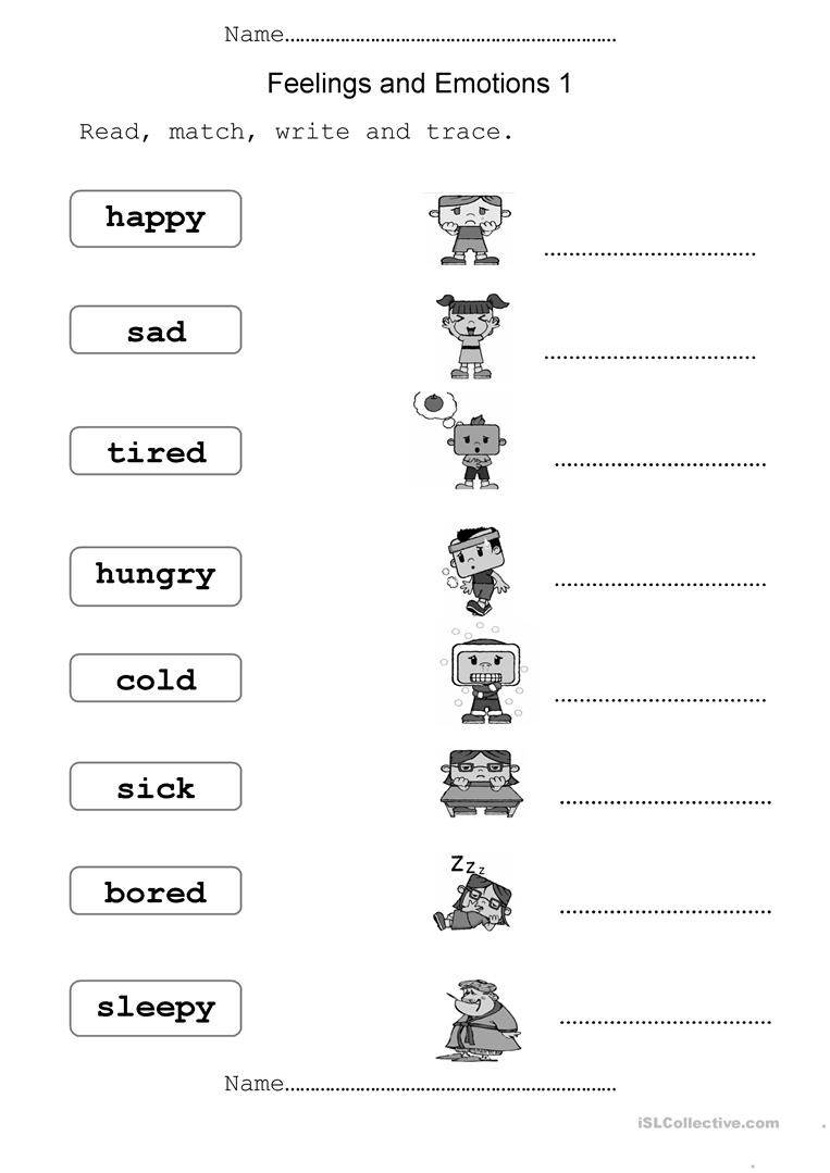 Feelings And Emotions  English Esl Worksheets