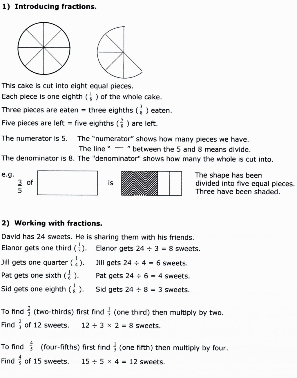 Fractions Worksheets 7Th Grade Math Printable Worksheet ...