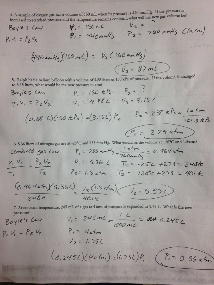 Gas Va Boyle's Law And Charles Law Gizmo Worksheet Answers ...
