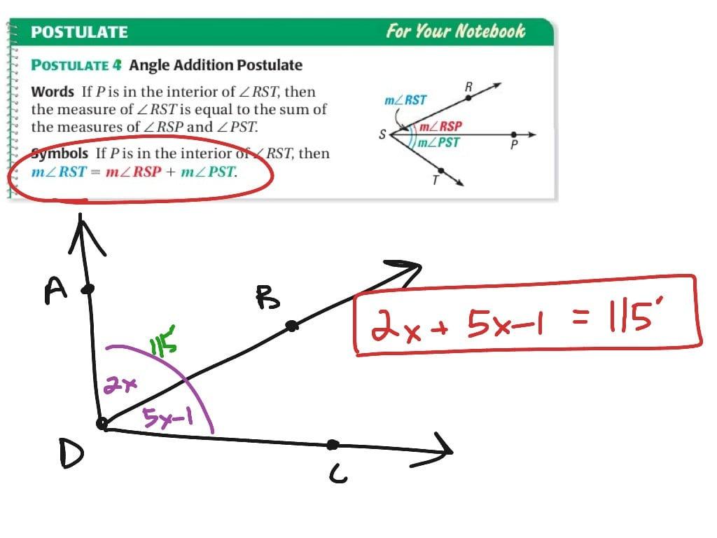 Geometry 14 Angle Addition Postulate Math Geometry — db ...
