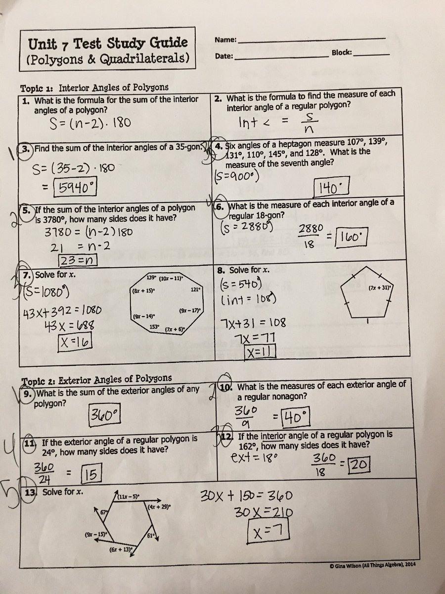 Gina Wilson Unit 8 Homework 4 Answer Key Wiring Library ...