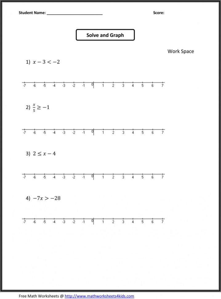 Graphing Compound Inequalities Worksheet — db excel.com