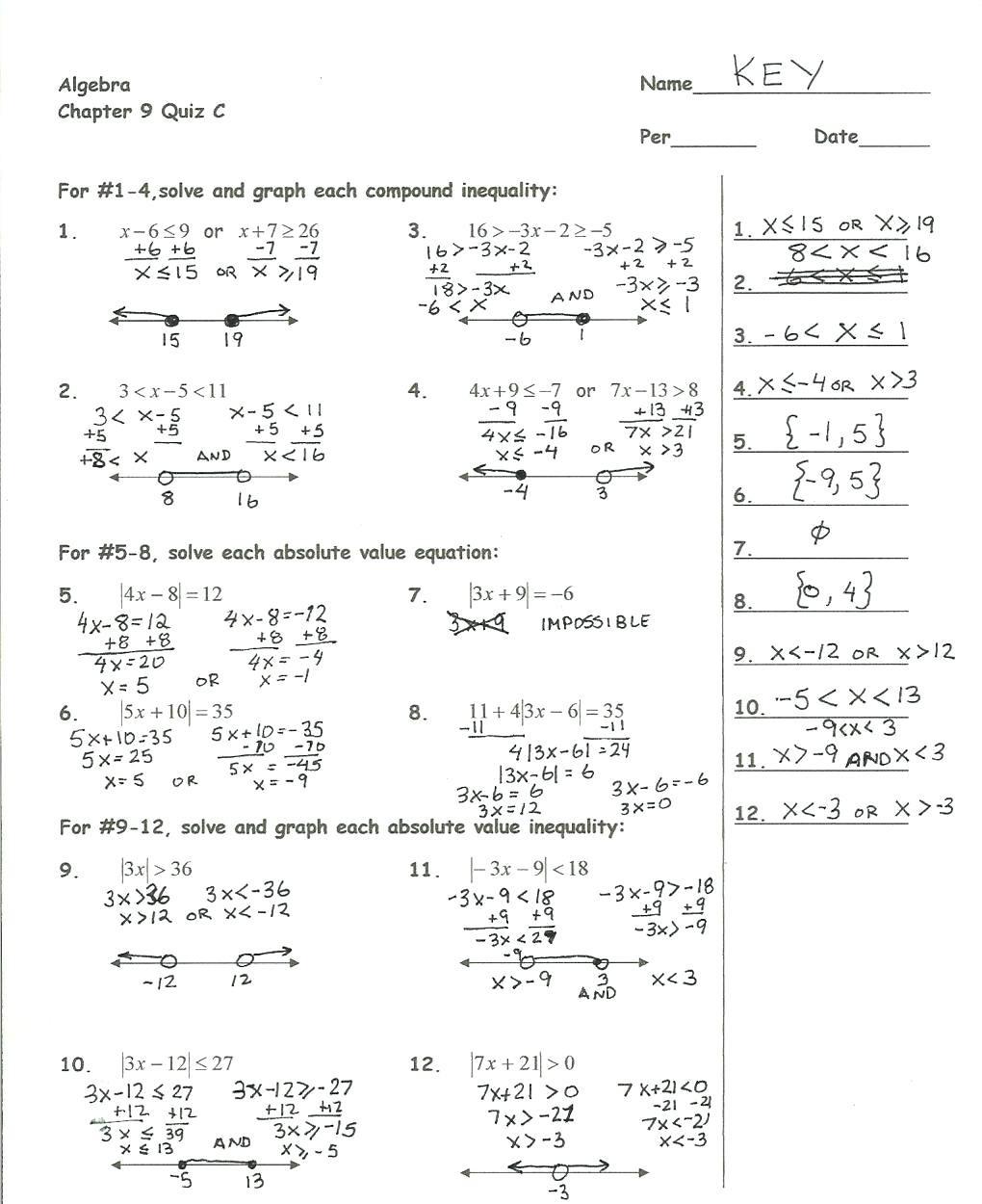 Graphing Quadratics In Standard Form Worksheet Pdf Doc
