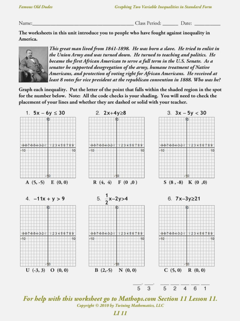 Graphing Systems Of Equations Standard Form Worksheet — db ...