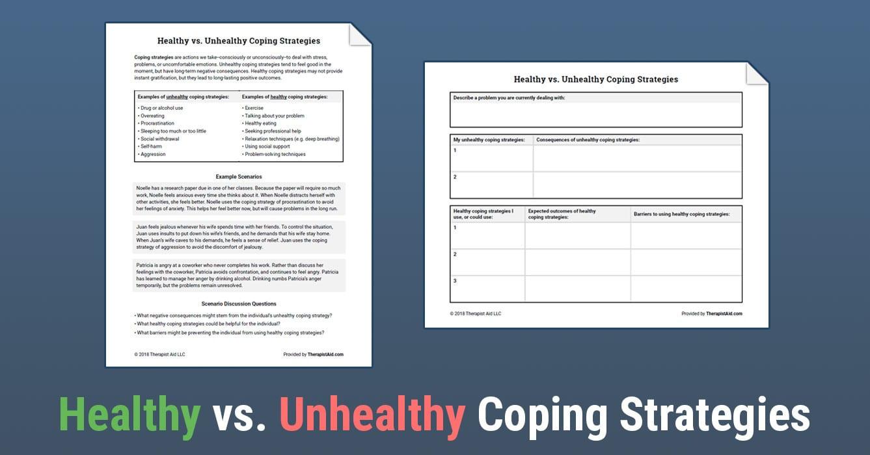 Healthy Vs Unhealthy Coping Strategies Worksheet