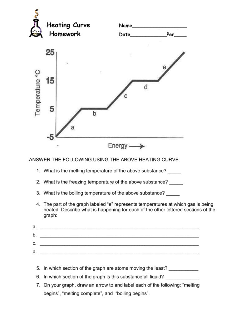 Heating Cooling Curve Worksheet Answers   db excel.com