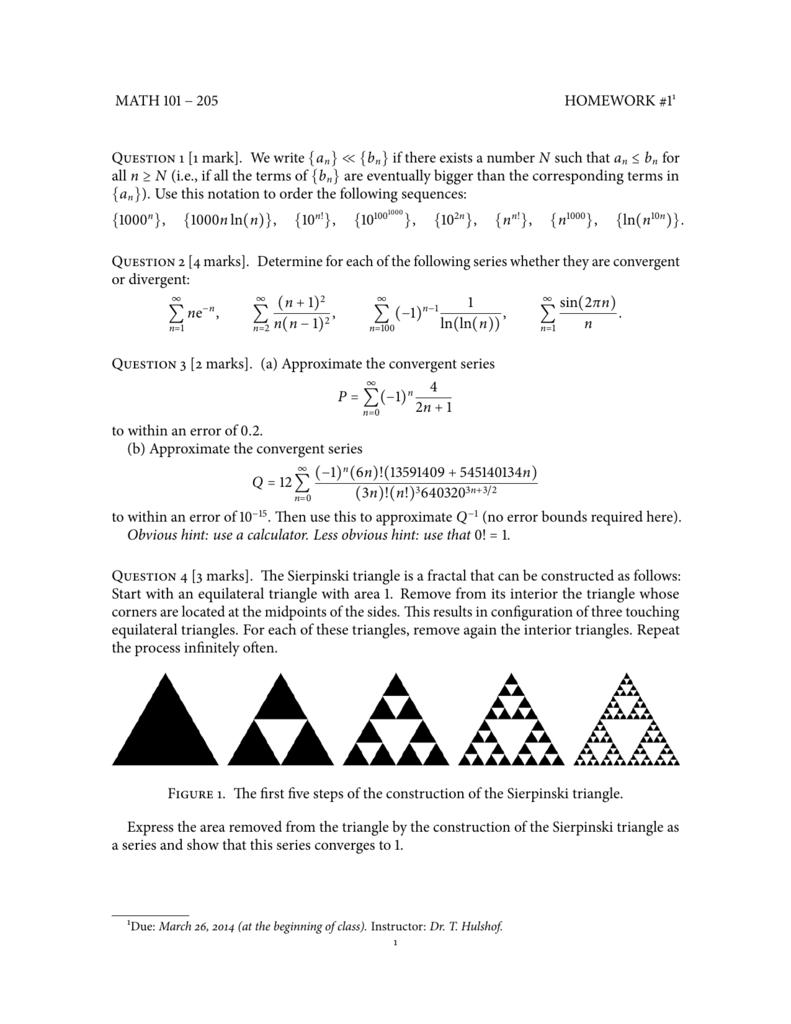 Homework 1 Math 101