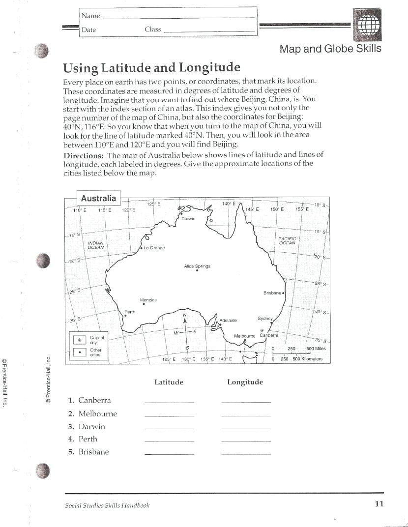 Latitude And Longitude Worksheets For 5Th Grade — db-excel.com