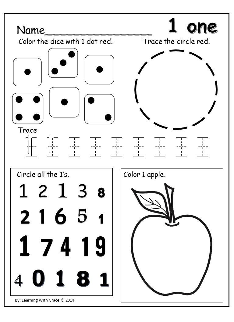 Learning Numbers 1 – 12 Worksheets And Flash Cards  Queen