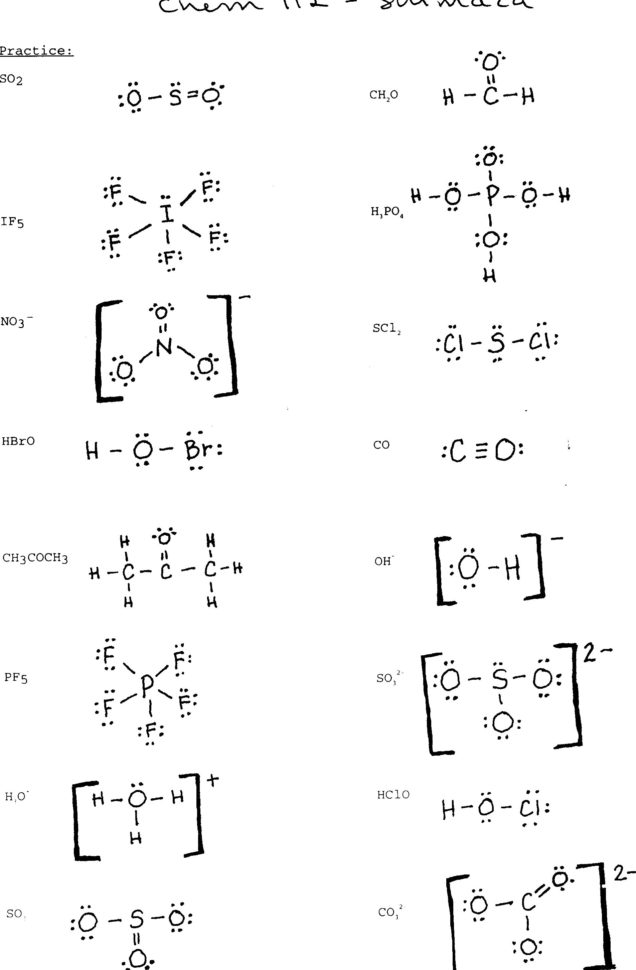 Lewis Dot Structure Practice Worksheet — db excel.com