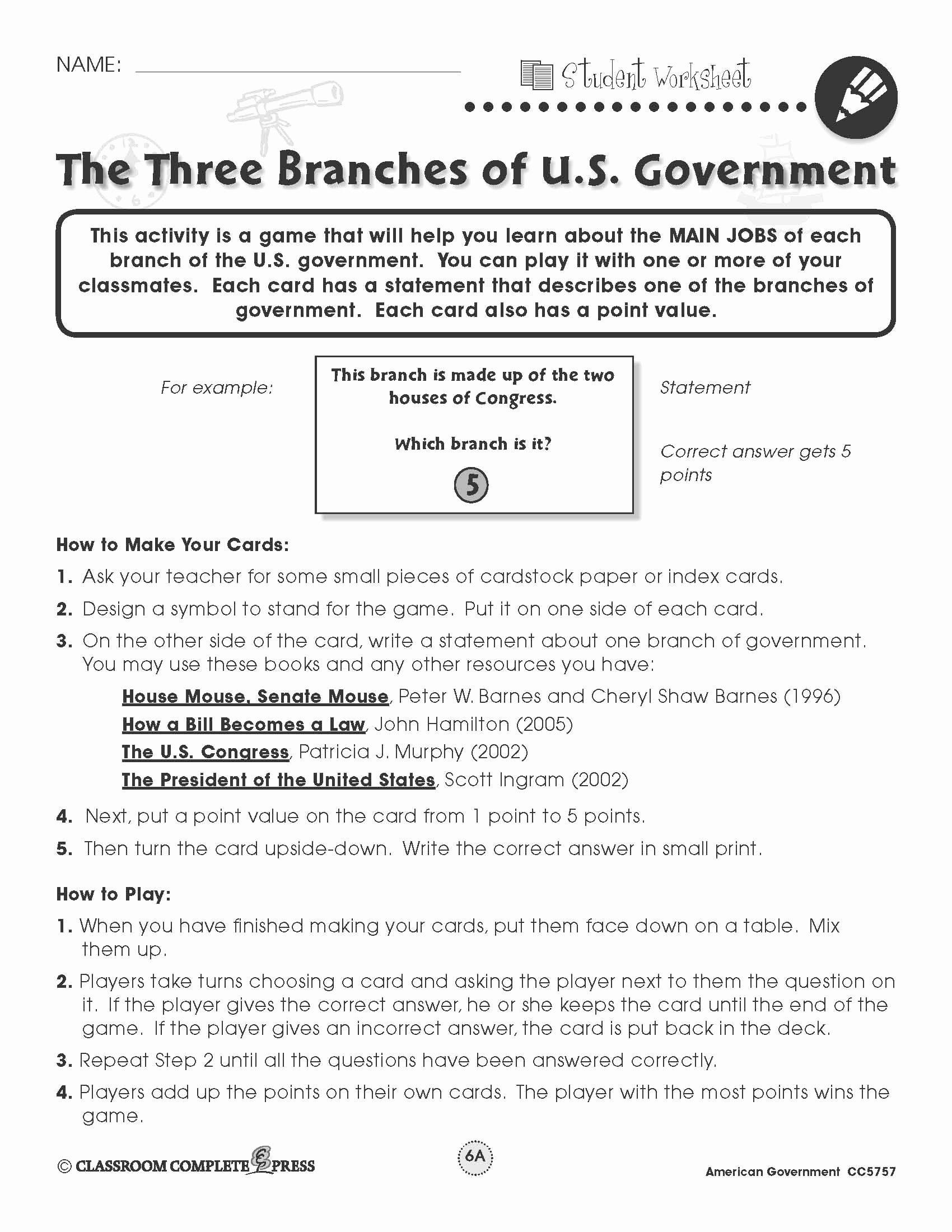 Limiting Government Icivics Worksheet Answer Key — db ...